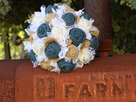 rustic burlap wedding