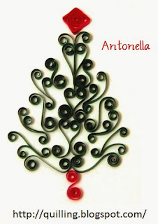 Free Quilled Scrolled Christmas Tree