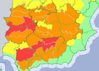 Andalucía y  Extremadura en riesgo extremo por calor