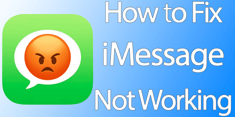 imessage not working on iphone