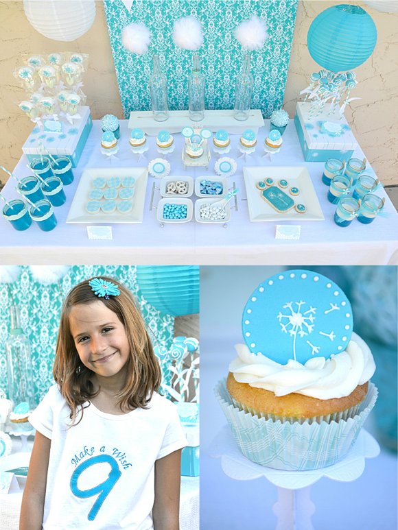 A Blue White Dandelion Inspired Make Wish Birthday Party