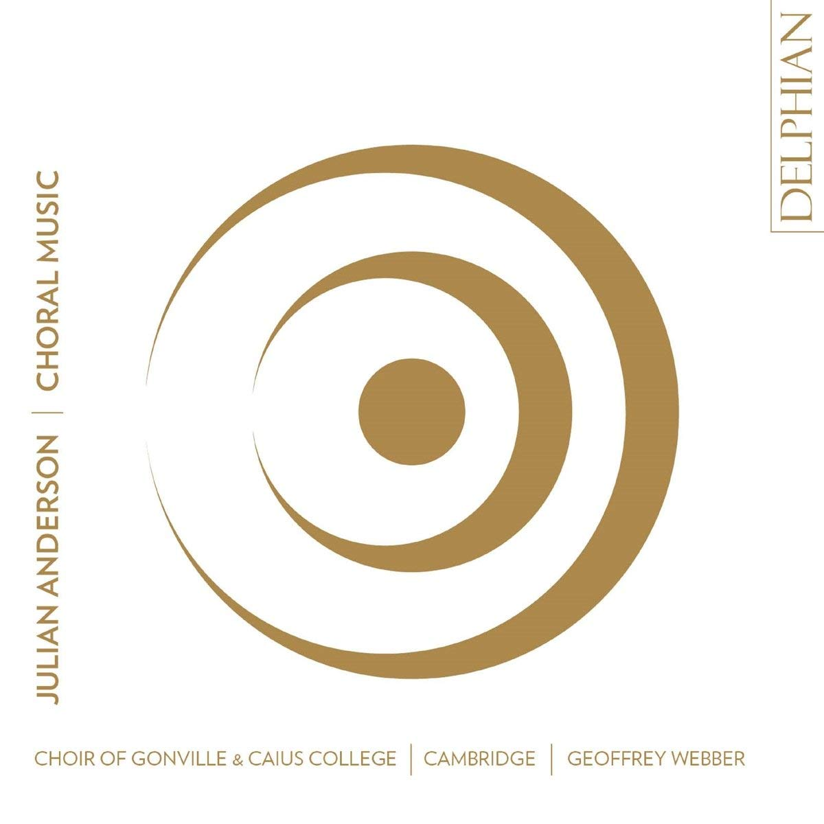 A different side to Julian Anderson revealed in this disc of choral music from Gonville & Caius