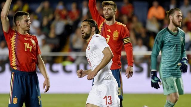 Video Cuplikan Gol Spanyol vs Swiss Skor Akhir 1-1   Friendly Match 04 Juni 2018