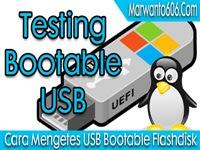 Cara Mengetes USB Bootable Flashdisk