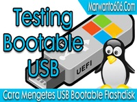 Cara Mengetest USB Bootable Flashdisk