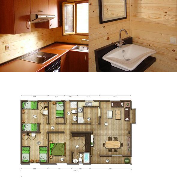 Casas De Madera En España Planos De Casas De Madera 92 M2