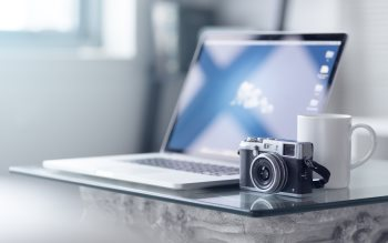 Wallpaper: Fuji X100S & MacBook Pro