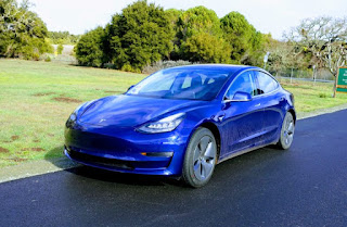 Tesla Model 3 front three quarters (Credit: Tesla) Click to Enlarge.