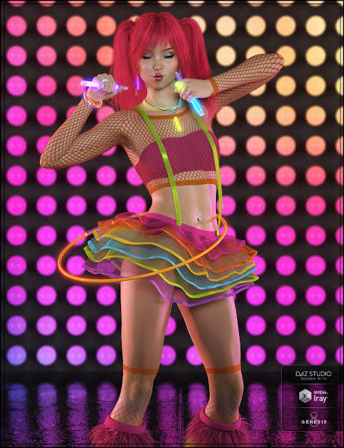 Party Monster Outfit for Genesis 8 Female