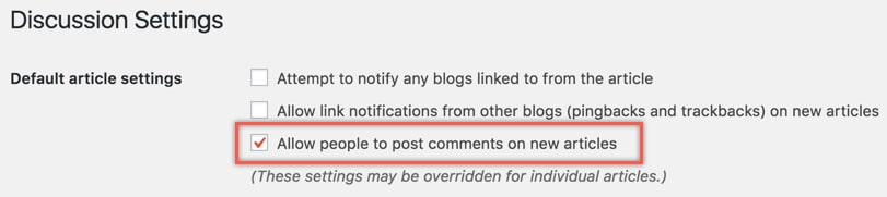 """Allow people to post comments on new article"" check mark kaise lagaye"
