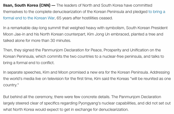 Free To Find Truth 84 117 North Korea And South Korea Agree To