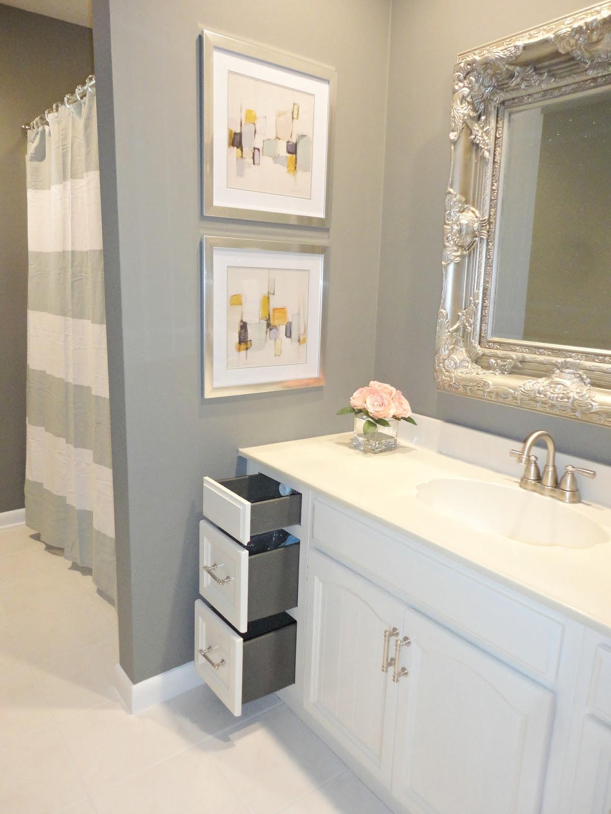 Bathroom Remodel Mirrors livelovediy: diy bathroom remodel on a budget