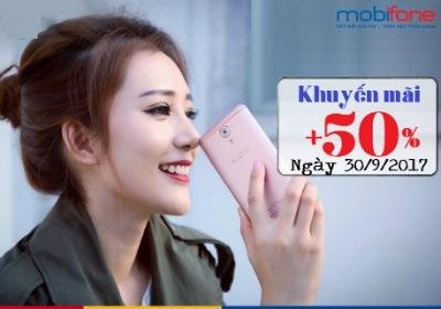 Mobifone khuyến mãi ngày 30/9/2017