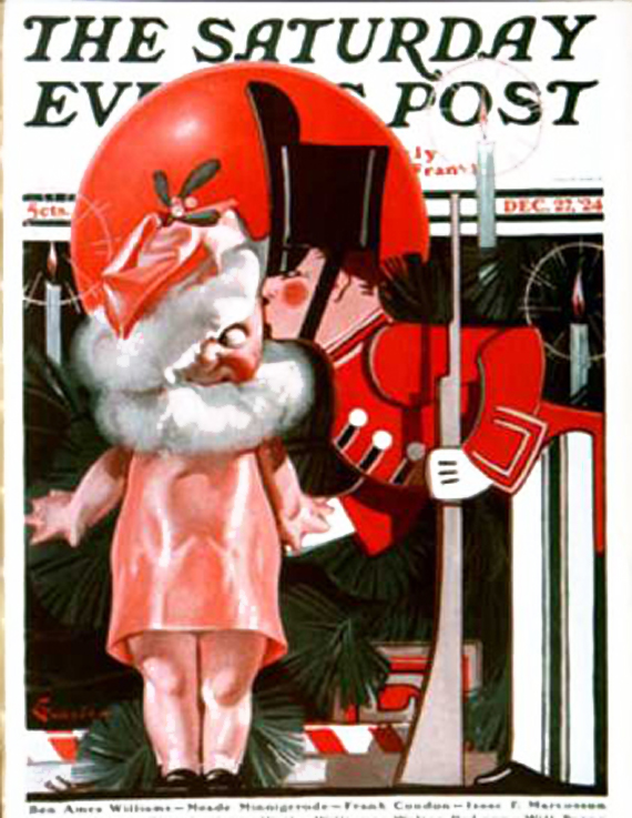 Christmas Saturday Evening Post vintage covers, Elbert McGran