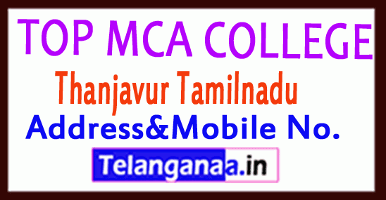 Top MCA Colleges in Thanjavur Tamilnadu