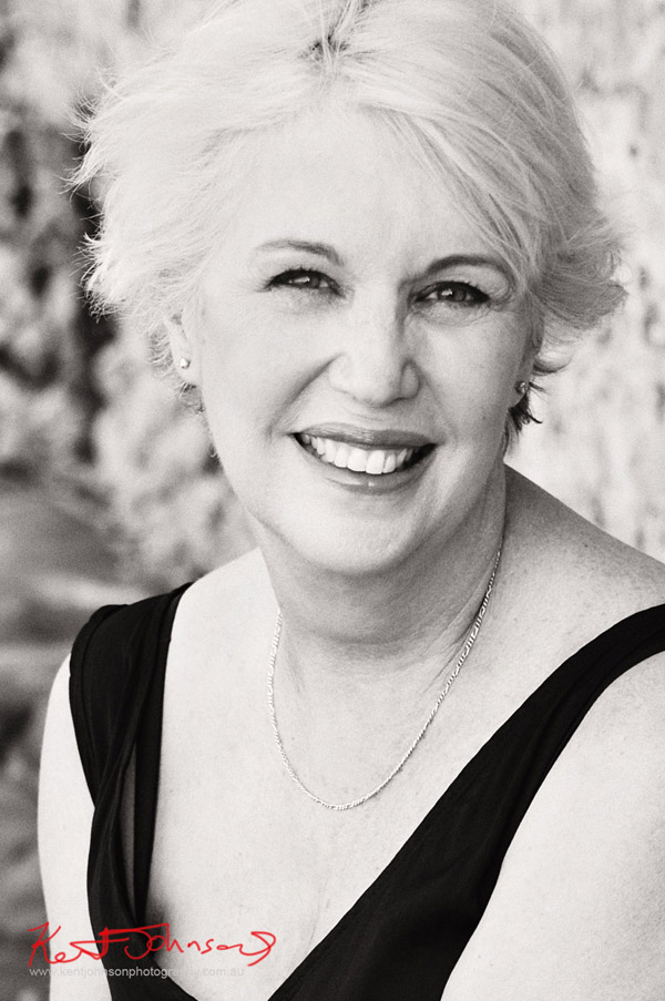 Black and white headshot - Photography by Kent Johnson Sydney, Australia.
