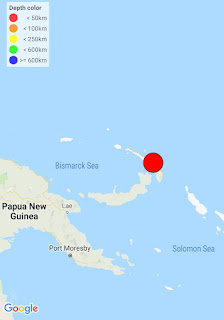 PODEROSO TERREMOTO SACUDE NEW IRELAND, PAPUA NEW GUINEA