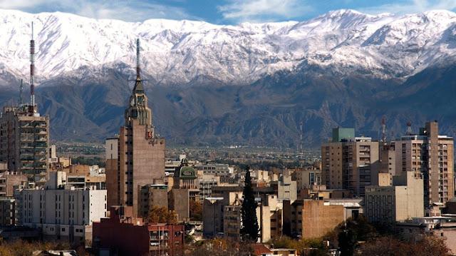 Cordilheira dos Andes em Mendoza na Argentina
