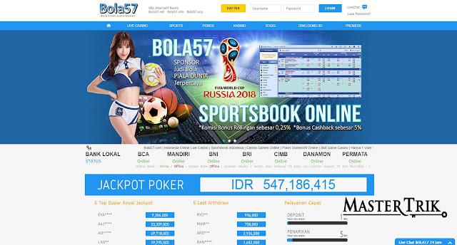 Bola57 Bandar Judi Bola Agen Live Casino Togel Online Indonesia