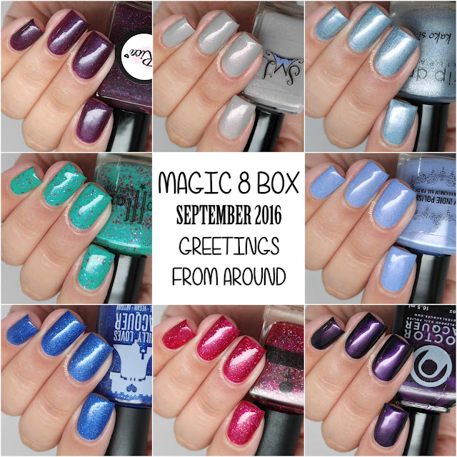 September Magic 8 Box Swatches & Review