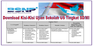 Download Kisi-Kisi US SD/MI Tahun 2018