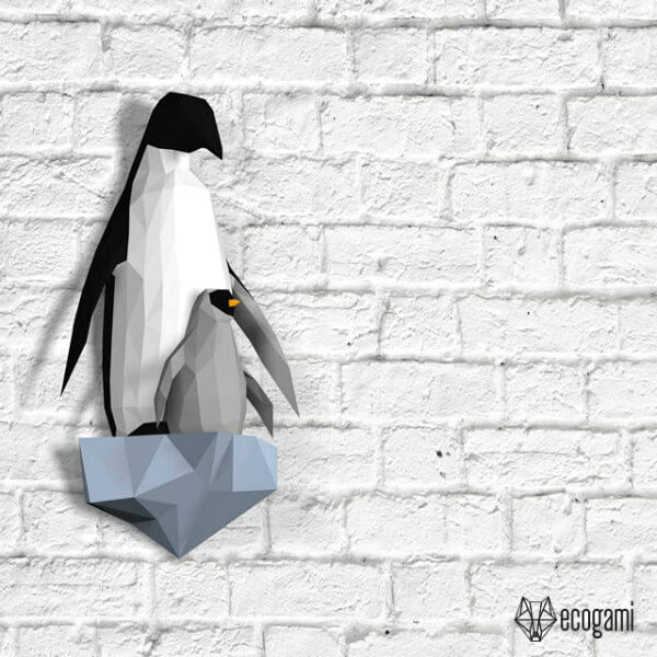 penguin paper craft models