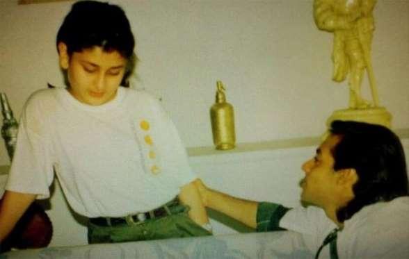 kareena kapoor childhood photo with salman khan