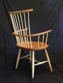 windsor chair, arm chair, modern windsor chair, Vermont, Timothy clark