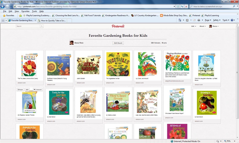 Kindergarten Kids Gardening Books And Pinterest