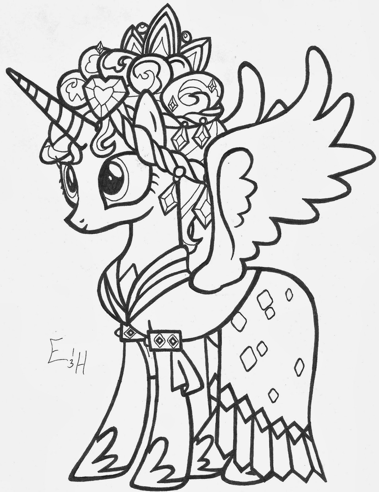 Free coloring pages of cadence princess