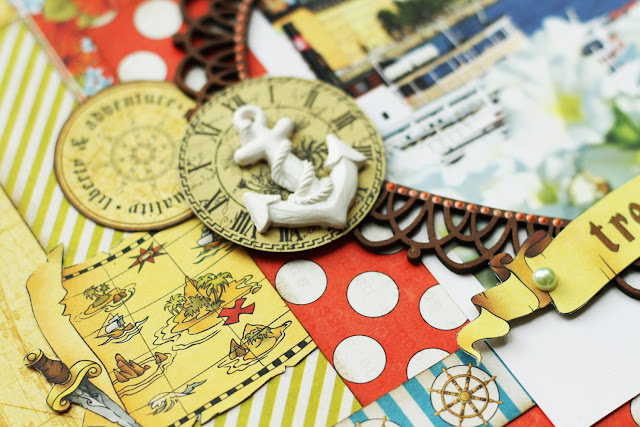 ScrapBerry's The Pirate's Treasure lay-out scrapbooking