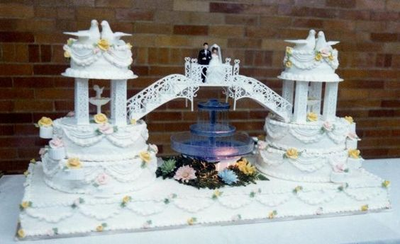 wedding cake bridges and stairs wedding cakes with fountains and stairs wedding ideas 22095