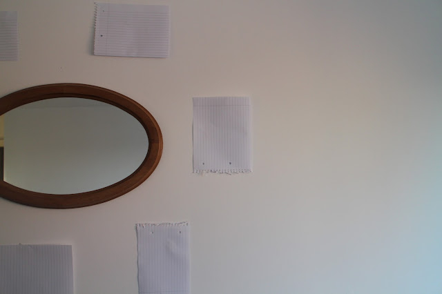 Mirror and prep for gallery wall display