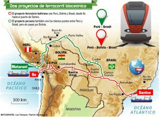 Paraguay y Bolivia estudiarán crear ferrocarril para transporte interoceánico