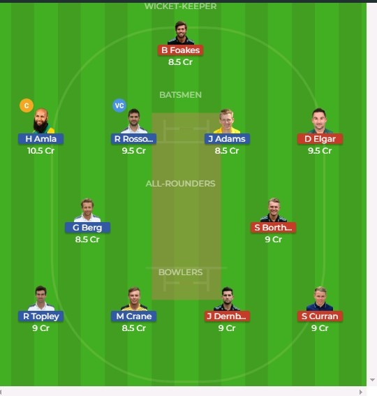 HAM vs SUR Dream11 Team Prediction: And Probable 11 May 21