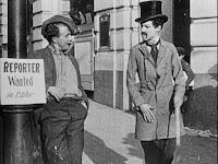 Chaplin en la película Making a Living