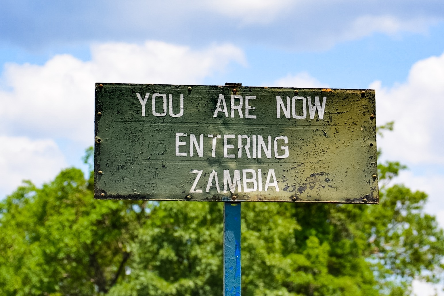 entering zambia sign