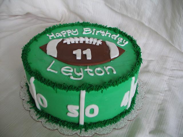 Birthday Cake Round Green Boy Number