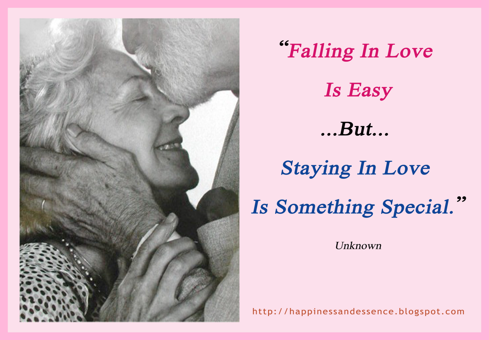 """Falling In Love Is Easy But Staying In Love Quotes: Happiness And Essence (สาระสุขสันต์): """"Falling In Love Is"""