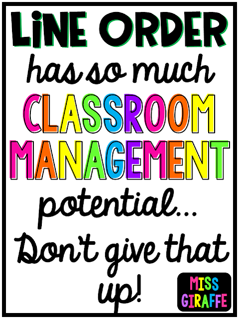 Quiet line up classroom management tips