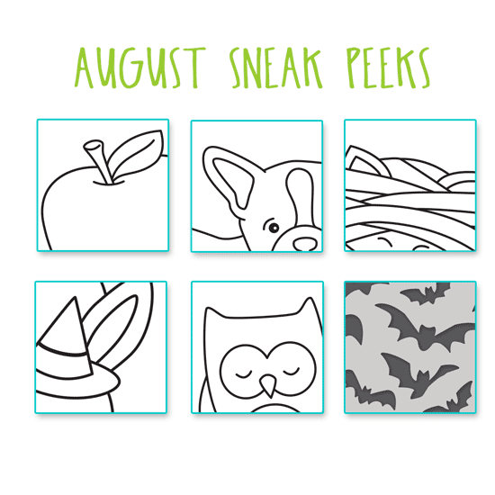 SNEAK PEEKS for August 2018 products by Newton's Nook Designs #newtonsnook