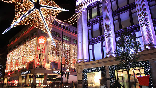 Oxford Street Lights Christmas London