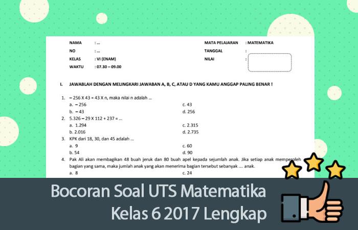 Kumpulan Soal Uts Matematika Sd Kelas 4 Semester 2018