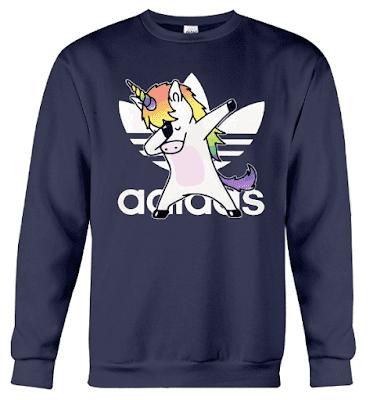Unicorn Dabbing Adidas Hoodie Sweatshirt Jacket Sweater