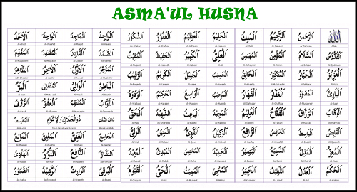 Bacaan 99 Asmaul Husna Bahasa Arab Latin Lengkap Terjemahannya