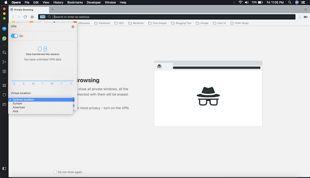 Opera Browser VPN