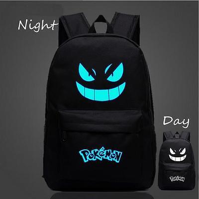 dc913541d9cb Pokemon GO Black Luminous Backpack Shoulders Bag Laptop Bag SchoolBag HZ