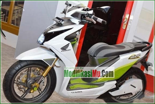 Pelek Honda PCX 150 jadi Kaki Kaki - Cara Modifikasi All New Honda Beat PGM FI Putih Simpel Futuristik