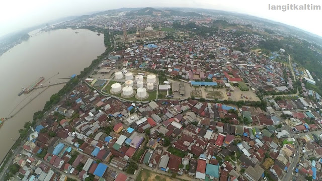 Foto Udara Sepktakuler di Pusat Kota Samarinda