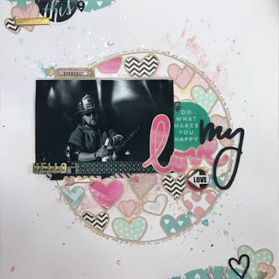 Scrapbook Layout: Chief in Action